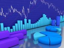 Auf lager Finanzierung und Diagramme Stockbild