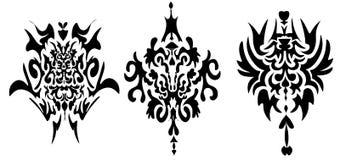 Auf Lager Schwarzweiss-Muster der Illustrations-drei stockfoto