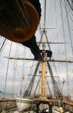 Auf lager Sieg-Hauptgericht-Yard u. Mast des Foto-HMS Stockfotos