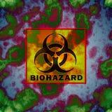 Auf lagerabbildung mit Biohazard Zeichen stock abbildung