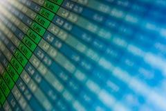 Auf lageranführungsstriche an der Istzeit an der Börse Lizenzfreies Stockfoto