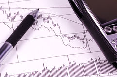 Auf lagerdiagramm stockfoto