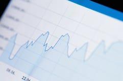 Auf lagerdiagrammwachstum Stockfoto