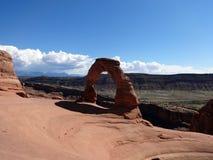 Auf lagerfoto der roten Felsen-Anordnung, Bogen-Nationalpark Stockfoto