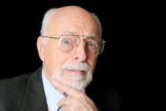 Auf lagerfoto des besorgten älteren Mannes Stockfoto
