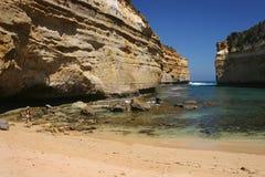 Auf lagerfoto des Loch Ard Schlucht-Strandes Australien Lizenzfreies Stockfoto