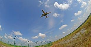 Auf lagerfoto eines Flugzeugs stockbilder