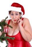 Auf lagerfoto von Mrs Weihnachtsmann Lizenzfreie Stockfotografie