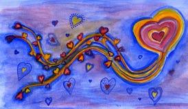 Auf Liebe hoch fliegen stock abbildung