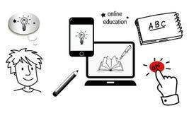 Auf Linie Bildungsanfang Lizenzfreies Stockbild