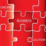 Auf Linie Geschäfts-Lösung Lizenzfreie Stockfotos