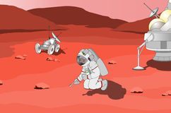 Auf Mars stock abbildung