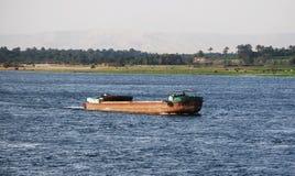 Auf Nile River kreuzen, die Landschaft, Süd-Ägypten stockbilder