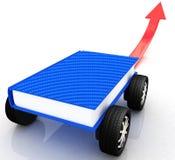 Auf Rennwagen in der Welt des Wissens Lizenzfreies Stockbild