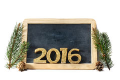 2016 auf Schiefer Stockbilder
