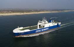 Auf Schiff DEM Meer aus der Luft στοκ φωτογραφία με δικαίωμα ελεύθερης χρήσης