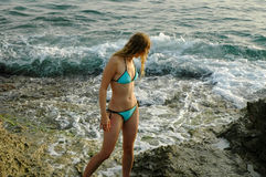 Auf sizilianischem rocks2 stockfoto