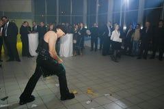 Auf Stadiumsdemonstration der russischen Ritter der Energieshow, Andrew Ledovskikh Lizenzfreie Stockfotos