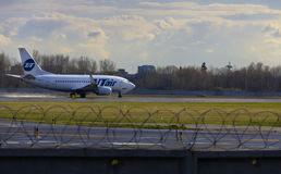 Auf Start Flugzeugen Stockfotos