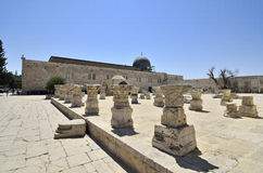 Auf Tempel-Montierung in Jerusalem. stockfoto