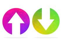 Auf und ab Pfeile Auch im corel abgehobenen Betrag vektor abbildung