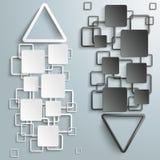 Auf und ab Schwarzweiss-Dreieck-Strom vektor abbildung