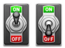 Auf und Aus-Schalter. stock abbildung