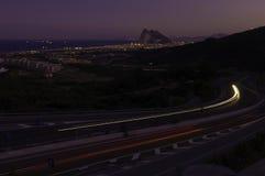 Auf Weg nach Gibraltar Stockbilder