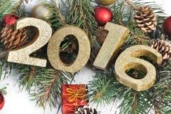 2016 auf Weihnachtsverzierung Stockbilder