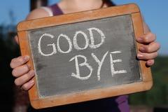 Auf Wiedersehen Lizenzfreies Stockfoto