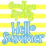 Auf Wiedersehen Frühling, hallo Sommervektor vektor abbildung