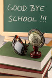Auf Wiedersehen Schule Stockfotos