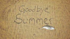 Auf Wiedersehen Sommer Stockbild