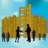 Aufbau-Abkommen lizenzfreie abbildung