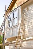 Aufbau/Abstellgleis-Einbau Stockfoto