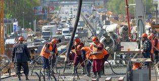 Aufbau-Abzugsgraben, Einbau Lizenzfreies Stockfoto