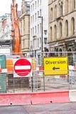 Aufbau-Abzugsgraben, Einbau Lizenzfreies Stockbild