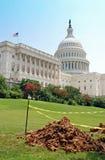Aufbau auf dem Capitol Hill Stockbilder