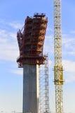 Aufbau auf Höhe Stockfotografie