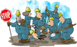Aufbau-Besatzung lizenzfreie abbildung