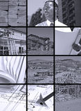 Aufbau-Collage lizenzfreies stockbild