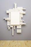 Aufbau der abstrakten Kunst im Museum Stockfotografie