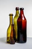 Aufbau der alten braunen Flaschen Lizenzfreie Stockfotos