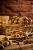 Aufbau der Erdnüsse auf Tabelle Lizenzfreies Stockfoto