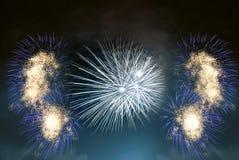 Aufbau der Feuerwerke Lizenzfreie Stockbilder