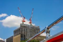 Aufbau der Gebäude Lizenzfreies Stockfoto