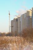 Aufbau der Gebäude Stockbild