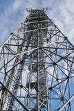 Aufbau der Kontrolltürme und der Sender Stockbild