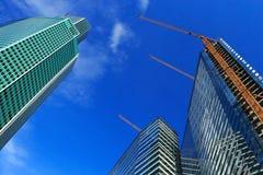 Aufbau der neuen Wolkenkratzer Stockfotografie