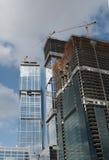 Aufbau der neuen Wolkenkratzer Stockbild